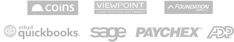 Dexter + Chaney, Viewpoint Construction Software, Foundation. intuit quickbooks, sage, PAYCHEX, ADP
